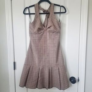 Halter plaid dress